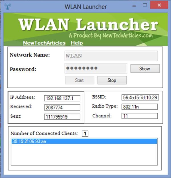Wlan launcher